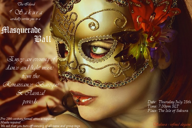 Formal Masquerade Ball at Sakura!